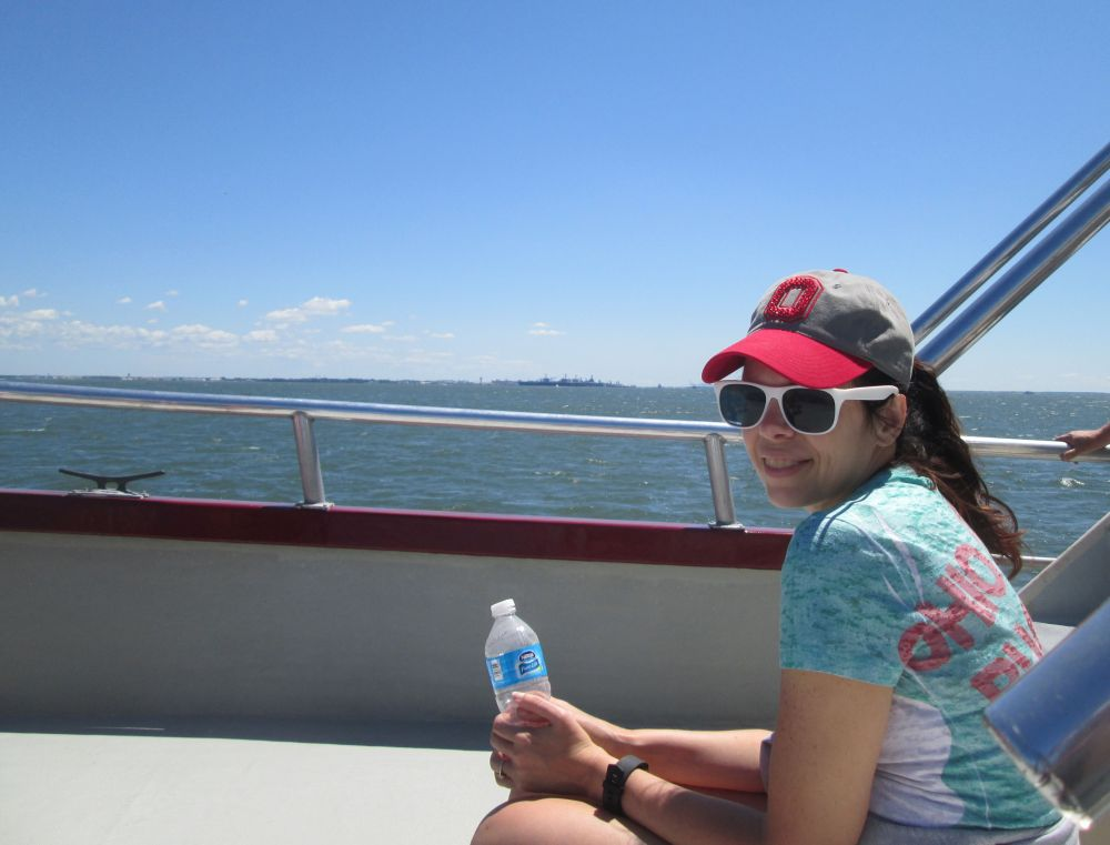 Kelley on the boat