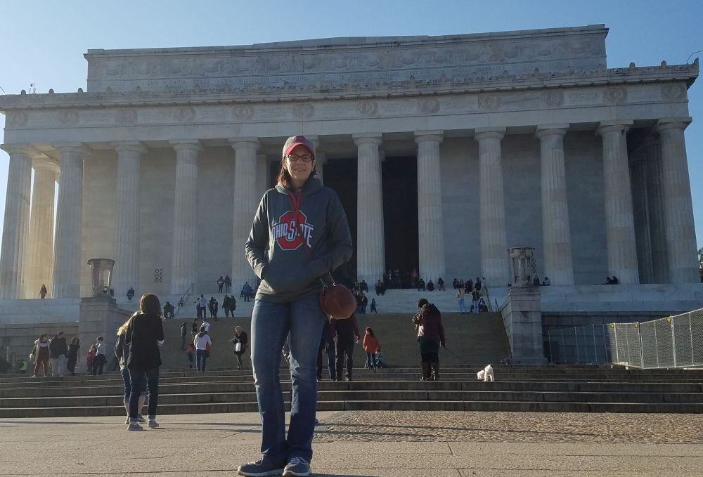 Kelley at Lincoln Memorial